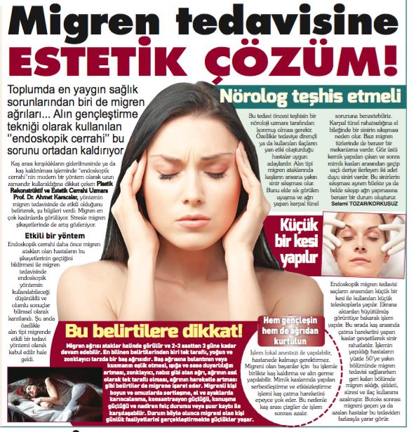 Migren Tedavisine Estetik Çözüm